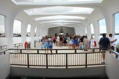 Pearl Harbor, monumento de USS Arizona Fotos de archivo libres de regalías