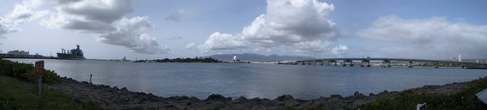 Pearl Harbor panoramique en Hawaï photos stock