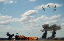 Pearl Harbor Reenactment Stock Photography