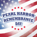 Pearl harbor remembrance day. America flag banner background Stock Photos