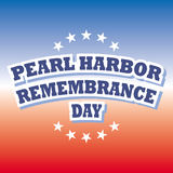 Pearl harbor remembrance day. Banner background Royalty Free Stock Images