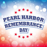 Pearl harbor remembrance day. Banner background Royalty Free Stock Photo