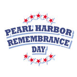 Pearl harbor remembrance day. Sign on white background Royalty Free Stock Image