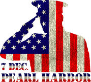 Pearl Harbor. Remembrance day. Vector illustration Patriotic background Royalty Free Stock Photography