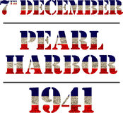 Pearl Harbor. Remembrance day Stock Images