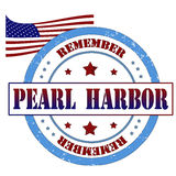 Pearl harbor stamp Royalty Free Stock Image