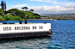 Pearl- Harbordenkmal Lizenzfreie Stockfotos