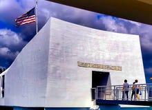 Pearl Harbour, Honolulu, CZEŚĆ pomnik zdjęcie royalty free