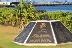 Pearl Harbour Pomnik Zdjęcie Royalty Free