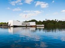 Pearl Harbour pomnik Zdjęcia Royalty Free