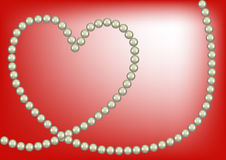 Pearl heart Royalty Free Stock Photo