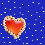 Pearl heart Stock Photo