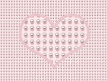 Pearl heart Royalty Free Stock Photo