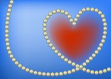 Pearl heart Stock Image