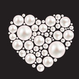 Pearl Heart Background. Vector Illustration royalty free illustration