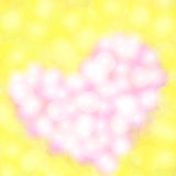 Pearl heart blur color design Royalty Free Stock Image