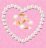 Pearl heart vector illustration background Royalty Free Stock Photography