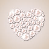Pearl heart vector illustration background Stock Photo