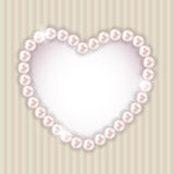 Pearl Heart Vector Illustration Background Stock Image