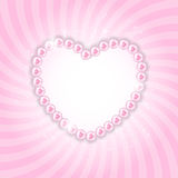 Pearl Heart Vector Illustration Background Stock Photography