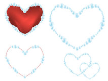 Pearl hearts Stock Images