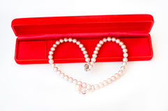 Pearl in heartshape Royalty Free Stock Photography