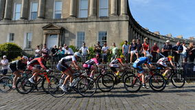 Pearl Izumi Tour Series Bicycle Race Final in Bath England. Cyclists ride in the Pearl Izumi Tour Series bicycle race final on June 11, 2015 in Bath, UK. Dani Stock Images