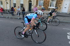 Pearl Izumi Tour Series Bicycle Race Final in Bath England. Cyclists ride in the Pearl Izumi Tour Series bicycle race final on June 11, 2015 in Bath, UK. Dani Royalty Free Stock Photos