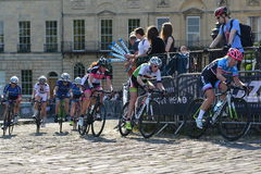 Pearl Izumi Tour Series Bicycle Race Final in Bath England. Cyclists ride in the Pearl Izumi Tour Series bicycle race final on June 11, 2015 in Bath, UK. Dani Royalty Free Stock Image