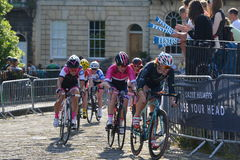 Pearl Izumi Tour Series Bicycle Race Final in Bath England. Cyclists ride in the Pearl Izumi Tour Series bicycle race final on June 11, 2015 in Bath, UK. Dani Royalty Free Stock Images