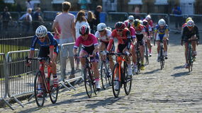 Pearl Izumi Tour Series Bicycle Race Final in Bath England. Cyclists ride in the Pearl Izumi Tour Series bicycle race final on June 11, 2015 in Bath, UK. Dani Royalty Free Stock Photo