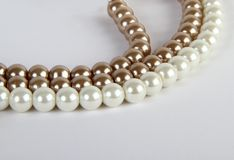 Pearl Jewelery in white background Stock Image