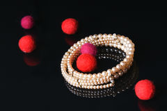 Pearl jewellery Stock Images