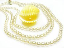 Pearl jewellery beads Royalty Free Stock Photo