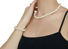 Pearl jewelry Stock Photos