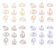 Pearl jewelry colored diamonds Stock Image