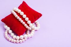 Pearl jewelry for women Royalty Free Stock Images
