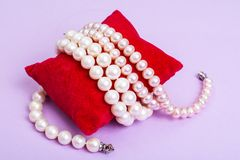 Pearl jewelry for women Stock Photo