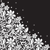 Pearl and lace border Royalty Free Stock Photos