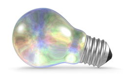 Pearl light bulb lying isolated on white Royalty Free Stock Image