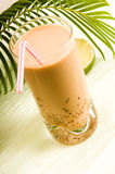 Pearl milk drink on white. Bubble tea Stock Photos