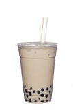 Pearl milk tea. On white background Royalty Free Stock Photo