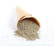 Pearl Millet in a Paper Cone Royalty Free Stock Images