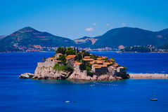 Pearl of Montenegro - Sveti Stefan. Montenegro, Balkans, Europe Stock Photography