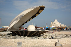 The Pearl Monument in Doha, Qatar Stock Photography