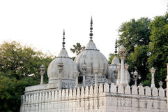 Pearl mosque moti masjid. In famous delhi fort lal qilah unesco world heritage site Stock Photos