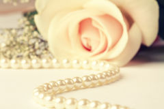 Pearl neacklace Royalty Free Stock Photo