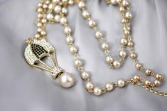 Pearl neaklace Stock Photos