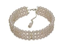 Pearl necklace. With a chain clasp is symbol of luxury - path included royalty free stock photo