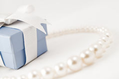 Pearl necklace. Always a desired gift to ladies at the slightest pretext Stock Images